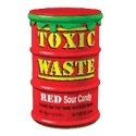12 x Red Toxic Waste Candy Barrel Drum - Dangerously Sour Sweets 42g Wholesale Bulk Buy